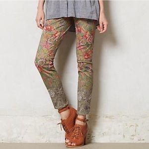 Pilocro and The Letterpress Anthro Floral Jeans